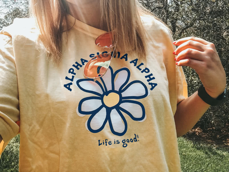 Alpha Sigma Alpha Life is Good t-shirt
